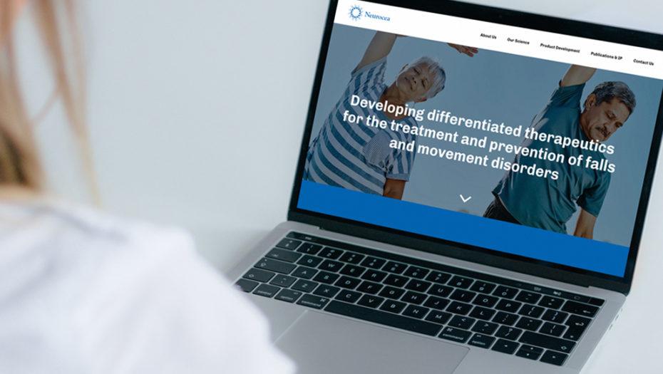 neurocea web design on laptop