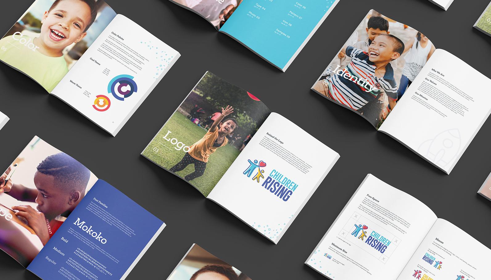 children rising marketing booklet brand guidelines