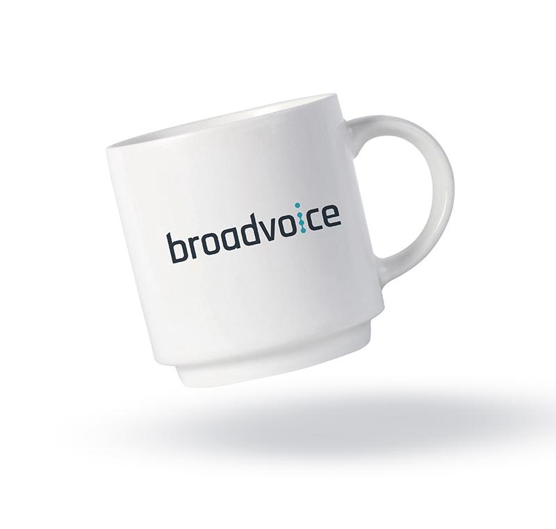 broadvoice marketing and branding design mug