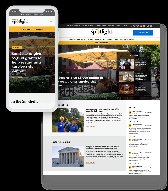 design in kind responsive web design phone and desktop